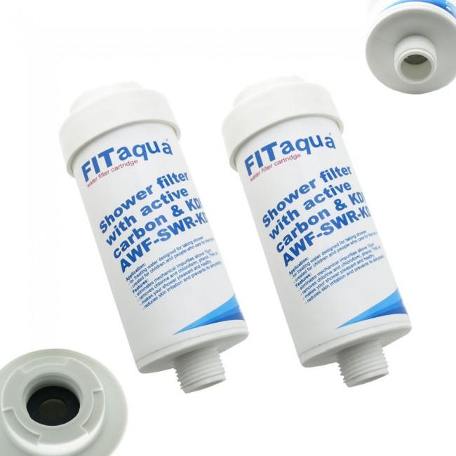 2x fitaqua duschfilter wasserfilter gegen kalk chlor. Black Bedroom Furniture Sets. Home Design Ideas