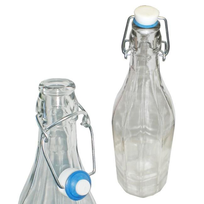 4x design glasflasche mit b gelverschluss b gelflasche 1. Black Bedroom Furniture Sets. Home Design Ideas